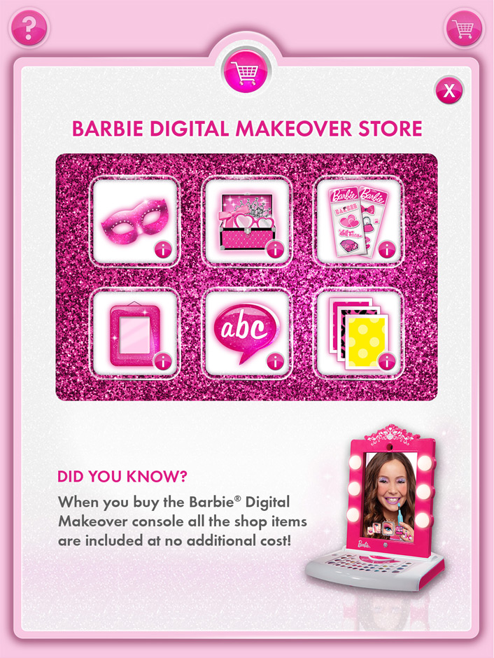 Barbie Digital Makeover Store Front